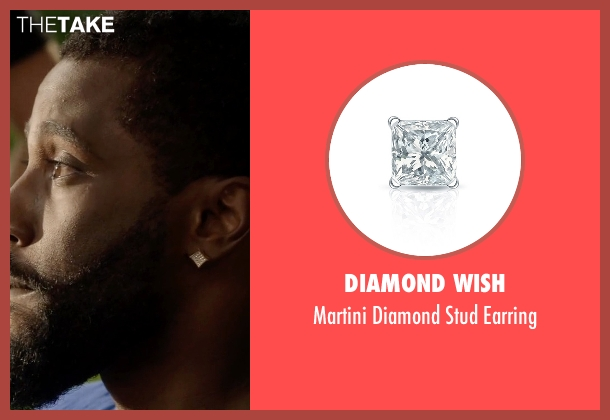 Diamond Wish white earring from Ballers seen with Ricky Jerret (John David Washington)
