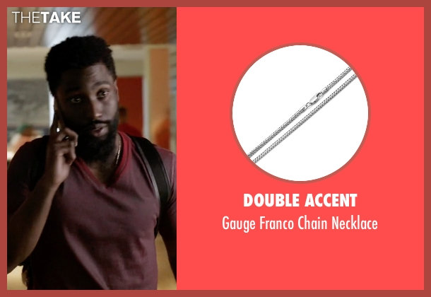 Double Accent white necklace from Ballers seen with Ricky Jerret (John David Washington)