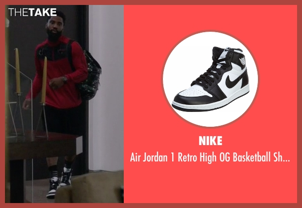 Nike white shoes from Ballers seen with Ricky Jerret (John David Washington)
