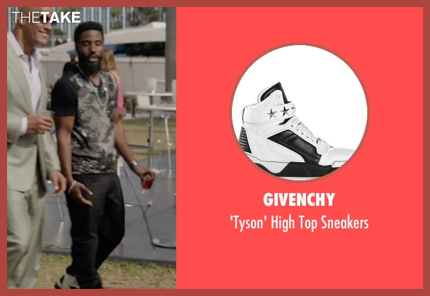 Givenchy white sneakers from Ballers seen with Ricky Jerret (John David Washington)
