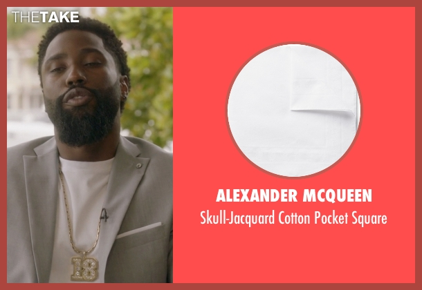 Alexander Mcqueen white square from Ballers seen with Ricky Jerret (John David Washington)