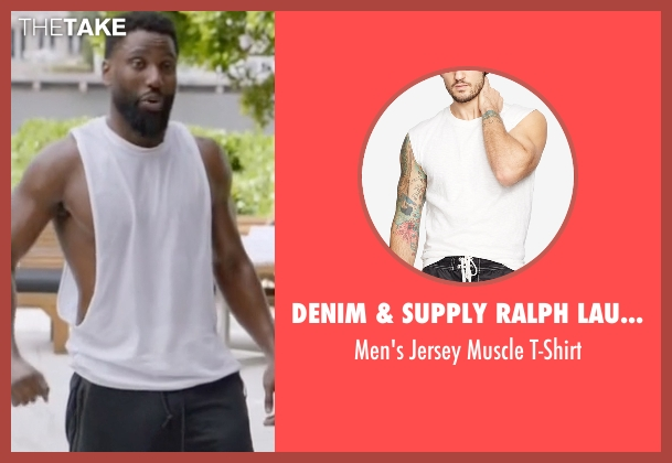 Denim & Supply Ralph Lauren  white t-shirt from Ballers seen with Ricky Jerret (John David Washington)