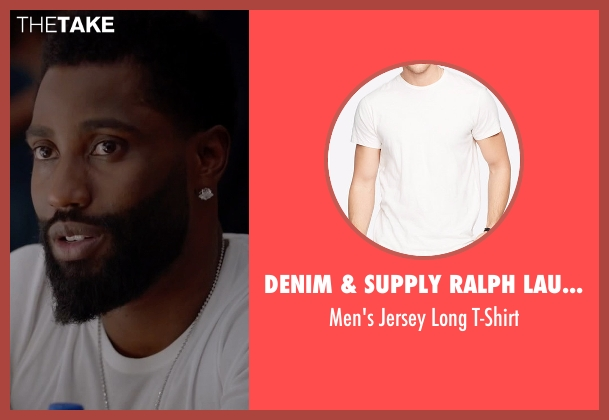 Denim & Supply Ralph Lauren white t-shirt from Ballers seen with Ricky Jerret (John David Washington)