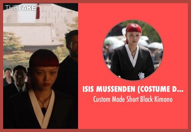 Isis Mussenden (Costume Designer) black kimono from The Wolverine seen with Rila Fukushima (Yukio)