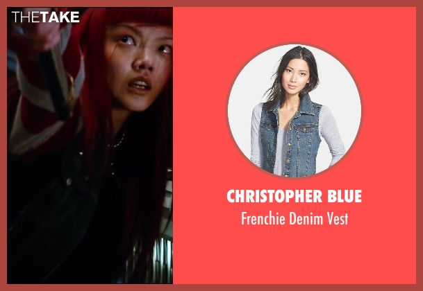 Christopher Blue blue vest from The Wolverine seen with Rila Fukushima (Yukio)