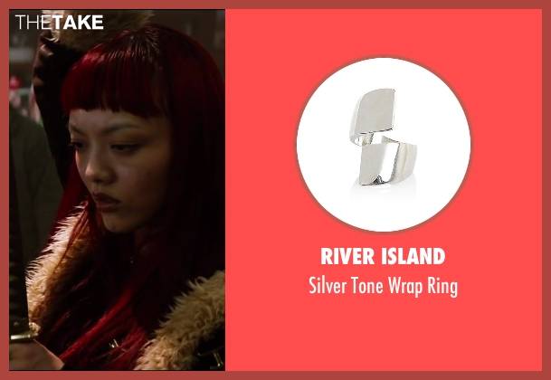 River Island silver ring from The Wolverine seen with Rila Fukushima (Yukio)