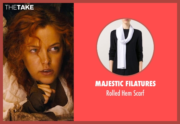 Majestic Filatures white scarf from Mad Max: Fury Road seen with Riley Keough (Capable)