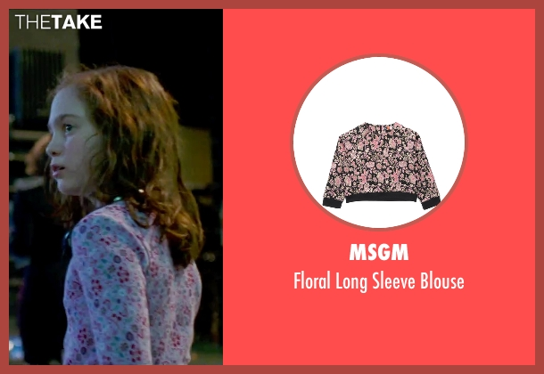 MSGM pink blouse from Steve Jobs seen with Ripley Sobo (Lisa Jobs (Age 9))
