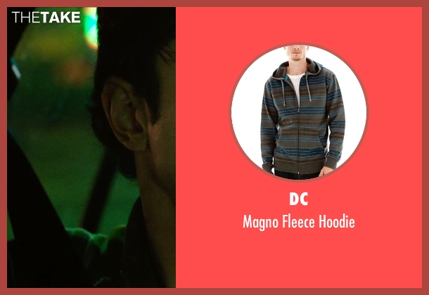 DC brown hoodie from Nightcrawler seen with Riz Ahmed (Rick)