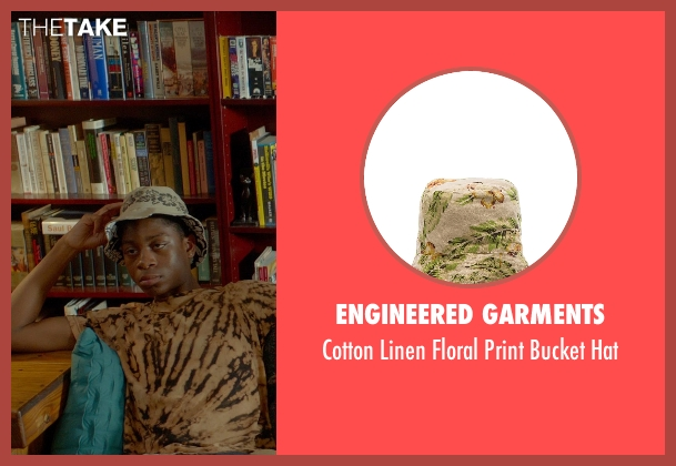 Engineered Garments beige hat from Me and Earl and the Dying Girl seen with RJ Cyler (Earl)