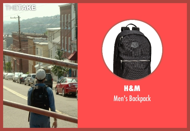 H&M black backpack from Me and Earl and the Dying Girl seen with RJ Cyler (Earl)
