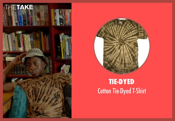 Tie-Dyed brown t-shirt from Me and Earl and the Dying Girl seen with RJ Cyler (Earl)