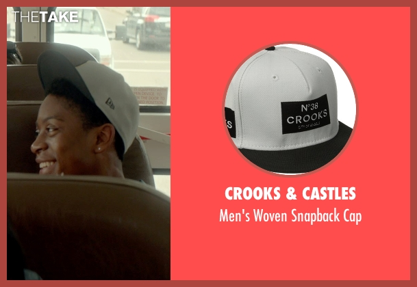 Crooks & Castles white cap from Me and Earl and the Dying Girl seen with RJ Cyler (Earl)