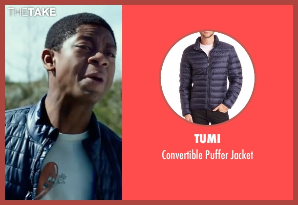 Tumi blue jacket from Power Rangers seen with RJ Cyler (Billy Cranston / Blue Ranger)