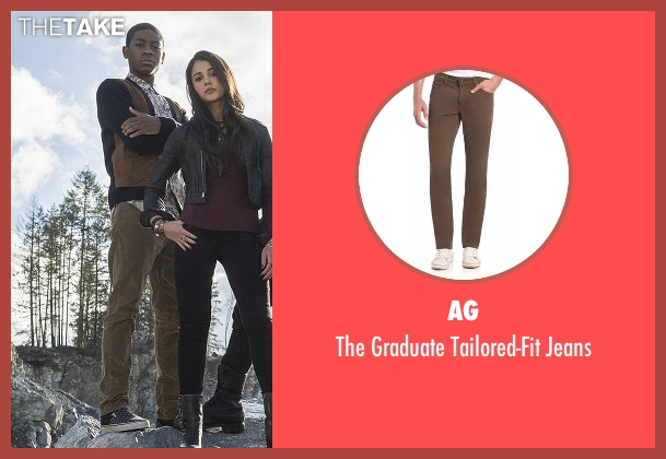 AG brown jeans from Power Rangers seen with RJ Cyler (Billy Cranston / Blue Ranger)