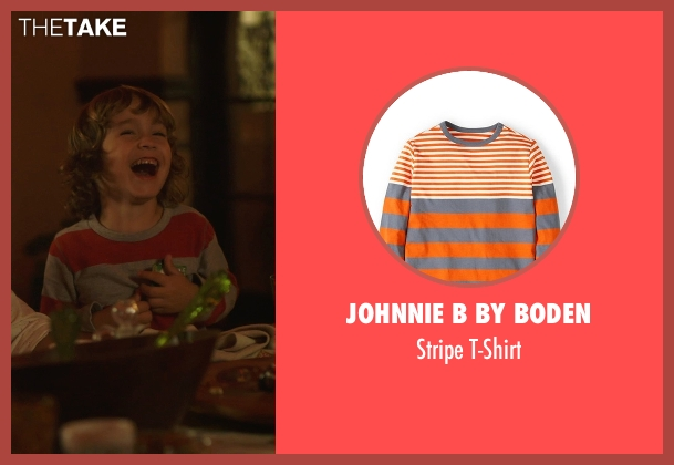 Johnnie B by Boden orange t-shirt from The Overnight seen with R.J. Hermes (RJ)