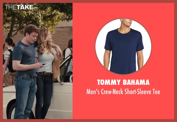 Tommy Bahama blue tee from Paper Towns seen with RJ Shearer (Chuck Parsons)