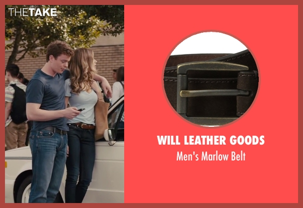 Will Leather Goods brown belt from Paper Towns seen with RJ Shearer (Chuck Parsons)