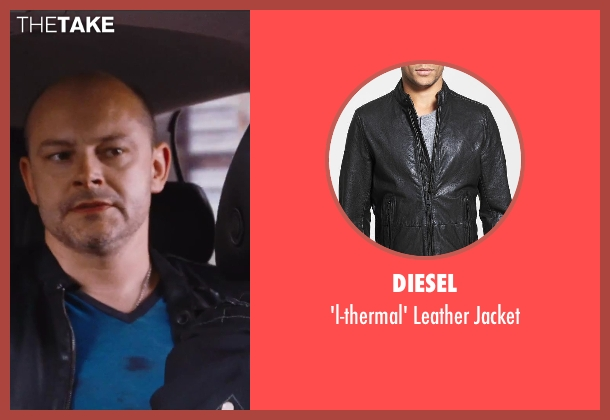 Diesel black jacket from Hot Tub Time Machine 2 seen with Rob Corddry (Lou)