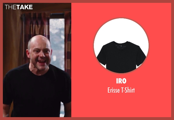 IRO black t-shirt from Hot Tub Time Machine 2 seen with Rob Corddry (Lou)