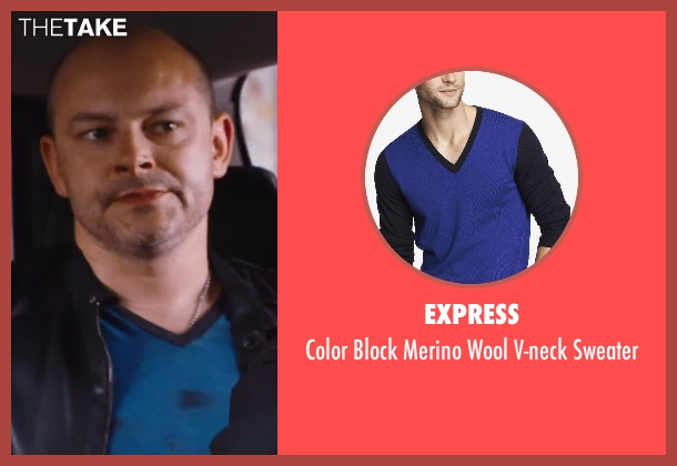Express blue sweater from Hot Tub Time Machine 2 seen with Rob Corddry (Lou)