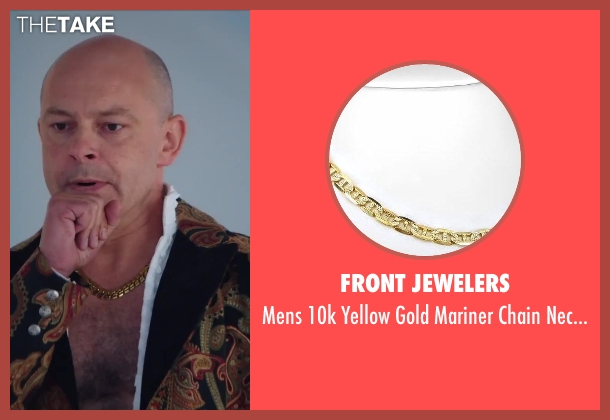 Front Jewelers gold necklace from Hot Tub Time Machine 2 seen with Rob Corddry (Lou)