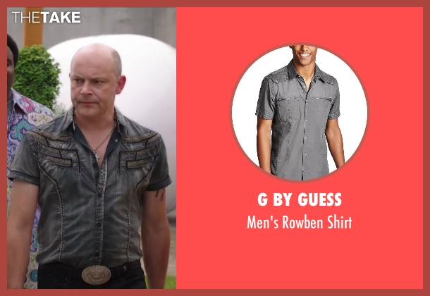 G by GUESS gray shirt from Hot Tub Time Machine 2 seen with Rob Corddry (Lou)