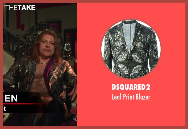 Dsquared2 green blazer from Hot Tub Time Machine 2 seen with Rob Corddry (Lou)