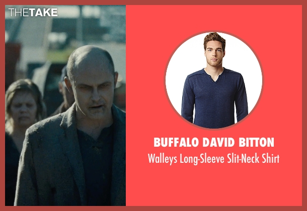 Buffalo David Bitton blue shirt from Warm Bodies seen with Rob Corddry ('M')