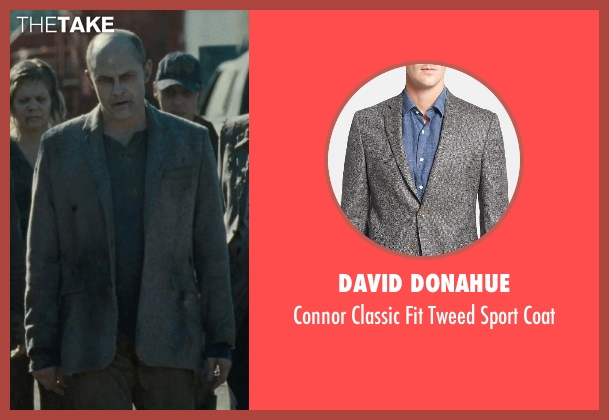 David Donahue gray coat from Warm Bodies seen with Rob Corddry ('M')
