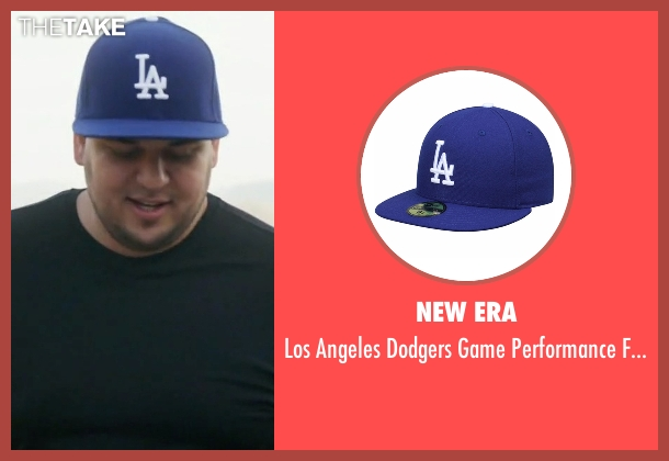 New Era blue hat from Rob & Chyna seen with Rob Kardashian