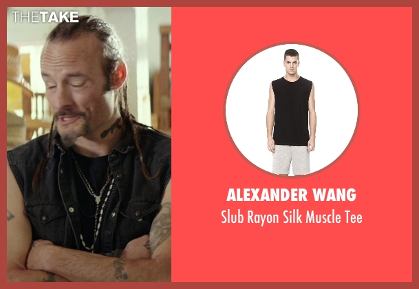 Alexander Wang black tee from The Best of Me seen with Rob Mello (Ted Cole)
