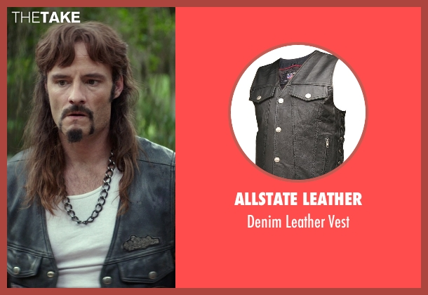 Allstate Leather black vest from The Best of Me seen with Rob Mello (Ted Cole)