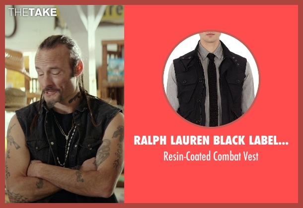 Ralph Lauren Black Label Denim black vest from The Best of Me seen with Rob Mello (Ted Cole)