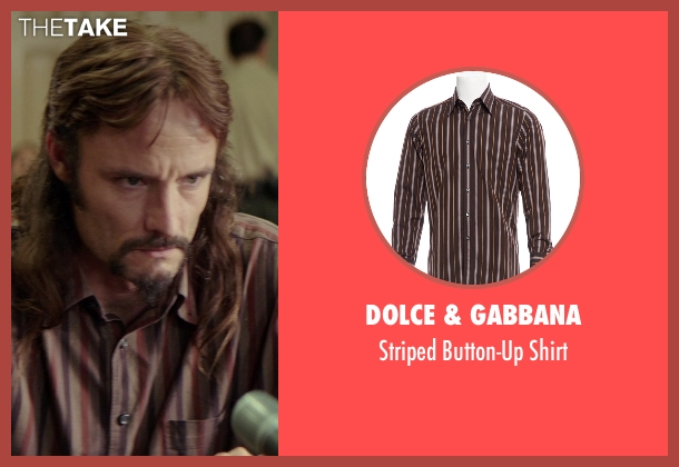 Dolce & Gabbana brown shirt from The Best of Me seen with Rob Mello (Ted Cole)