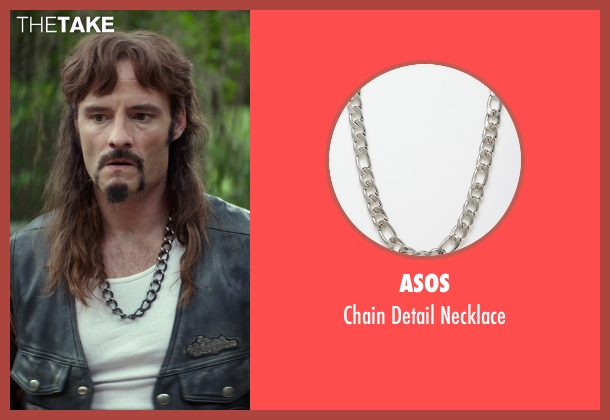 ASOS silver necklace from The Best of Me seen with Rob Mello (Ted Cole)