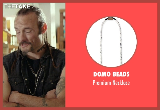 Domo Beads white necklace from The Best of Me seen with Rob Mello (Ted Cole)