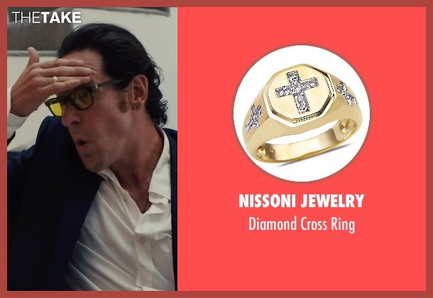 Nissoni Jewelry gold ring from Begin Again seen with Rob Morrow (CEO)