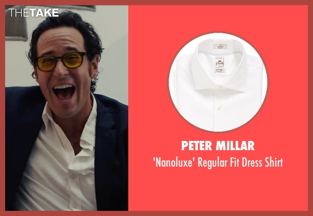 Peter Millar white shirt from Begin Again seen with Rob Morrow (CEO)