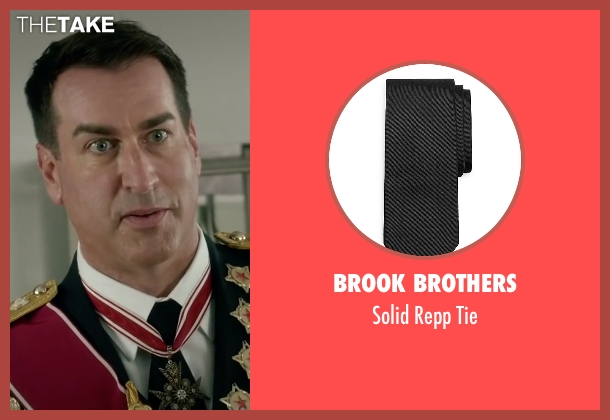 Brook Brothers black tie from Absolutely Anything seen with Rob Riggle (Grant)