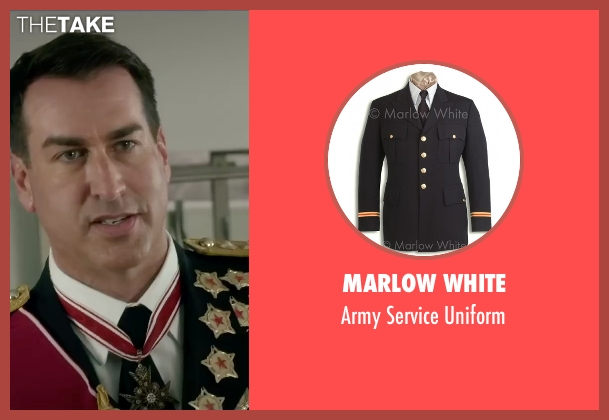 Marlow White uniform from Absolutely Anything seen with Rob Riggle (Grant)