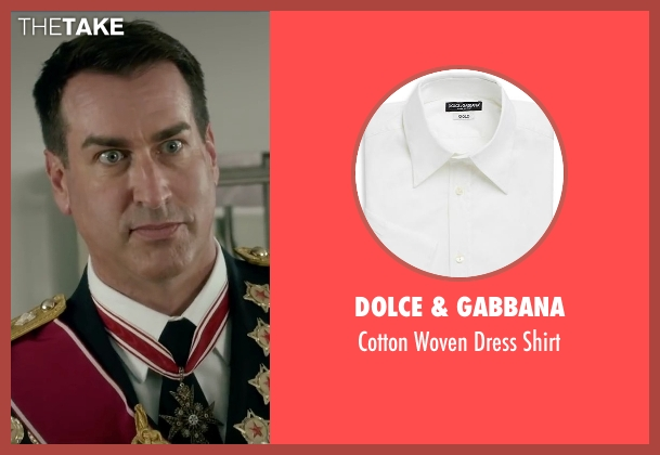 Dolce & Gabbana white shirt from Absolutely Anything seen with Rob Riggle (Grant)
