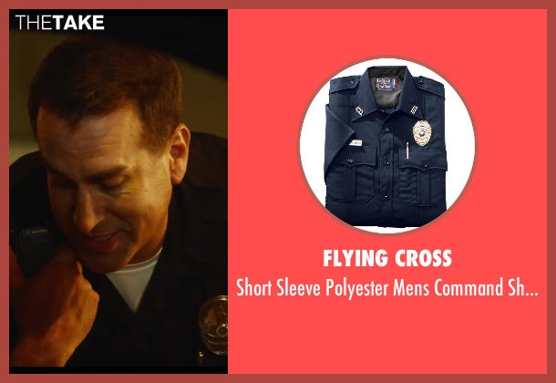 Flying Cross shirt from Let's Be Cops seen with Rob Riggle (Officer Segars)