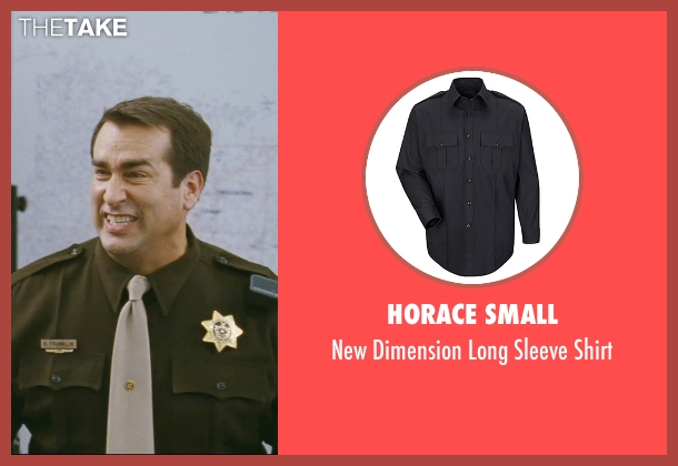 Horace Small black shirt from The Hangover seen with Rob Riggle (Officer Franklin)