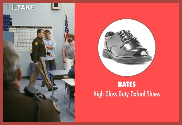 Bates black shoes from The Hangover seen with Rob Riggle (Officer Franklin)
