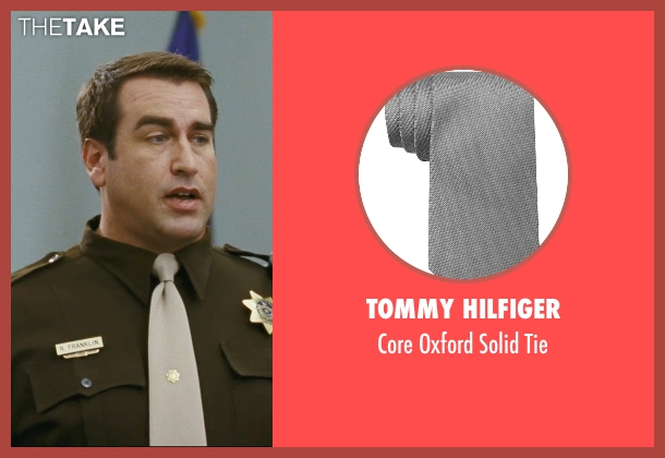 Tommy Hilfiger gray tie from The Hangover seen with Rob Riggle (Officer Franklin)