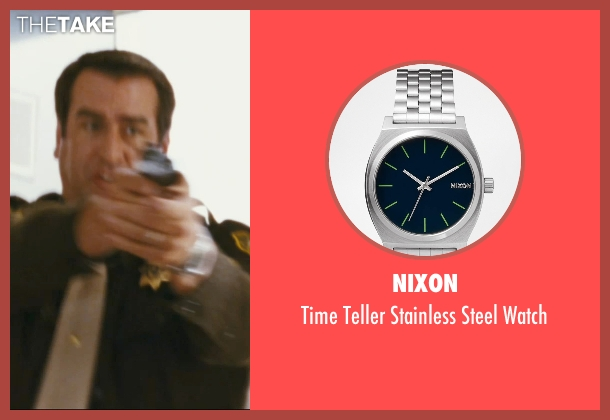 Nixon silver watch from The Hangover seen with Rob Riggle (Officer Franklin)