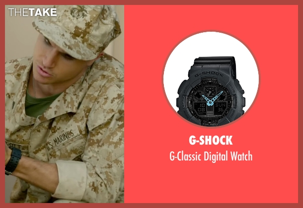 G-Shock black watch from Max seen with Robbie Amell (Kyle Wincott)