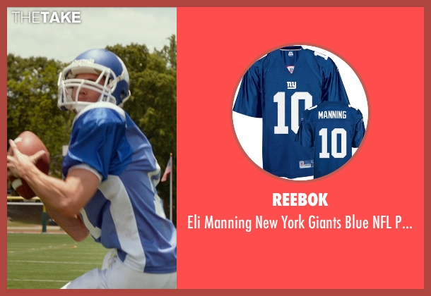 Reebok blue jersey from The DUFF seen with Robbie Amell (Wesley)