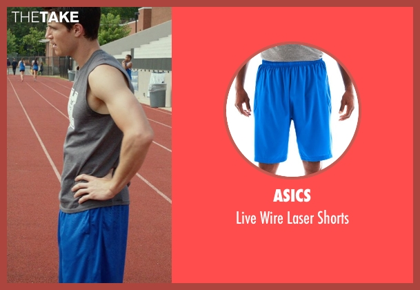 ASICS blue shorts from The DUFF seen with Robbie Amell (Wesley)